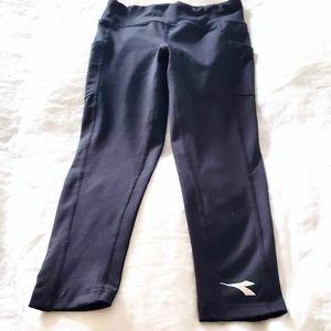 Diadora Leggings Girl's Black S 7/8